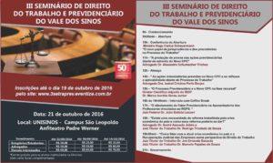 III Seminário de Direito do Trabalho e Previdenciário